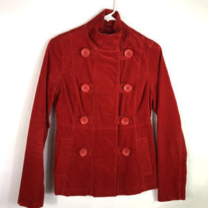 Mossimo Military Style Jacket Velour Double Breast